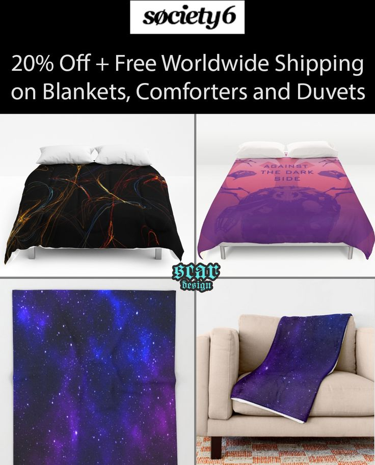 20% Off + Free Worldwide Shipping on #blankets, #comforters and #duvets . Ends Tonight at Midnight PT!   #freeworldwideshipping #freeshipping #homedecor #kidsroom #cozy #bedroom #livingroom #winter #giftsforhim #giftsforher #giftsforkids #discount #sales #society6 #onlineshopping #duvetcover #buyblanket #coolcomforters #coolduvetcovers