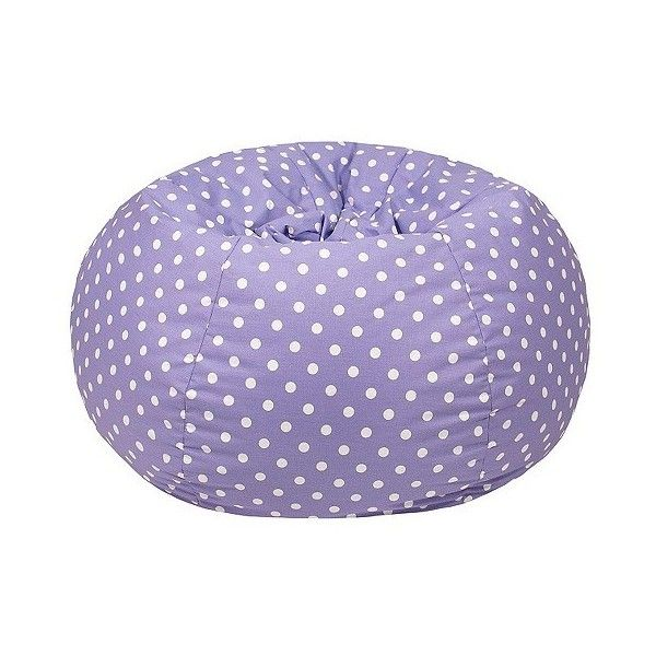 Medium Polka Dot Bean Bag Chair (£115) ❤ liked on Polyvore featuring home, furniture, chairs, purple, purple bean bag chair, purple furniture, polkadot chair, gold furniture and beanbag furniture