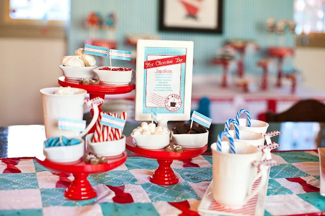 North Pole Baking partyChristmas Parties, Holiday Parties, S'Mores Bar, Baking Parties, Hot Cocoa Bar, Chocolates Bar, Parties Ideas, North Pole, Hot Chocolates