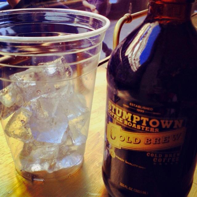 Stumptown cold brew coffee growler