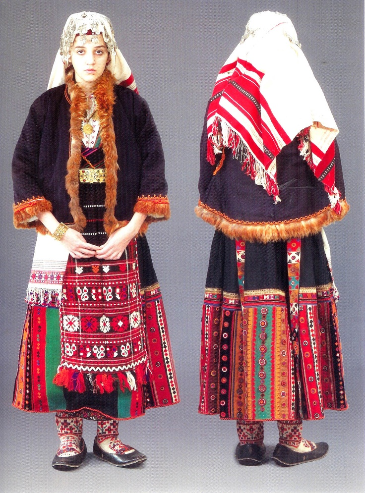 Festive costume Stara Zagora area Bulgaria