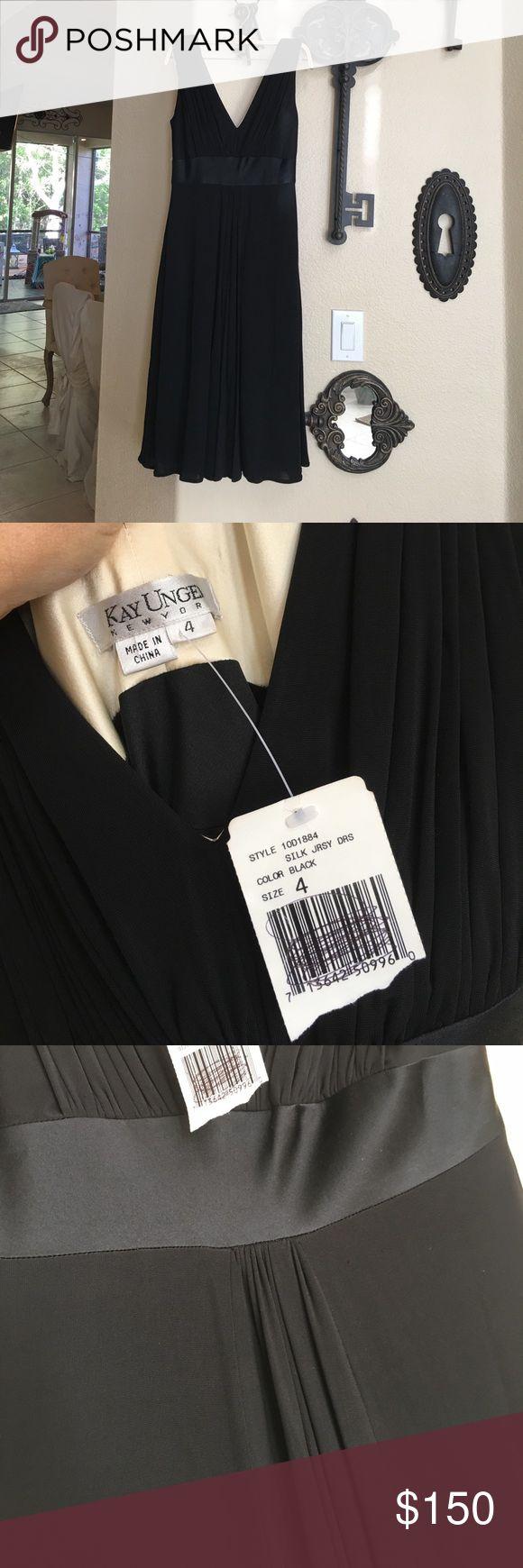 Kay Unger silk jersey dress NWT Kay Unger silk jersey dress NWT Kay Unger Dresses Midi