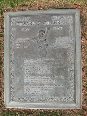 Grave Marker Ray Edward Eddie Cochran Was An American