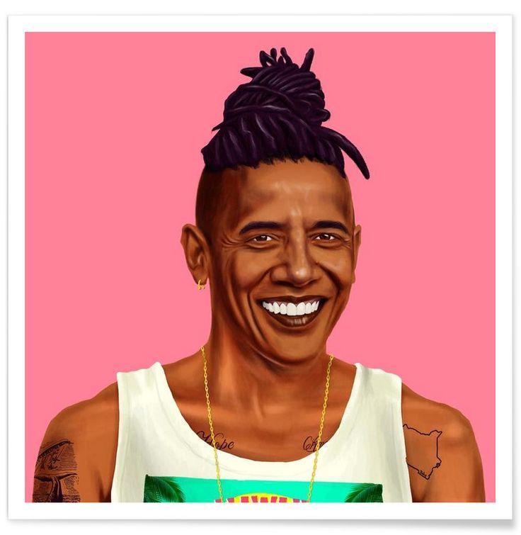 Obama en Affiche premium par Amit Shimoni Illustration | JUNIQE