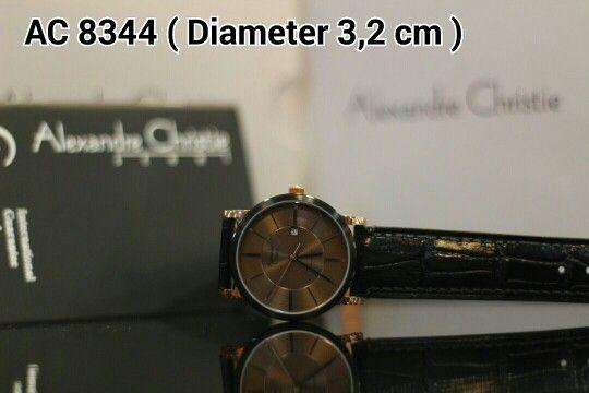 ALEXANDRE CHRISTIE 8344 Harga IDR 925.000 Material : Leather black - ring rosegold - black Diameter 3,2 cm Garansi mesin 1 tahun international