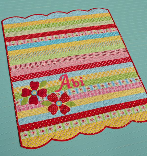 jelly roll quilt...love these colors. Great inspiration on this site.