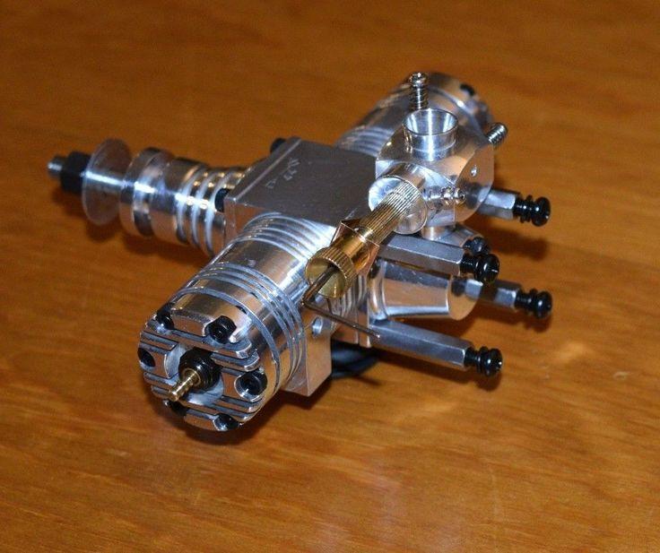 1973 Hiness 44 Twin RC model airplane engine vintage 2 cylinder glow Japan motor | eBay