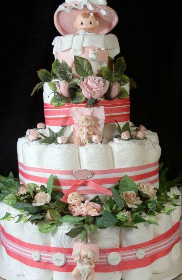 easy nappy cake instructions