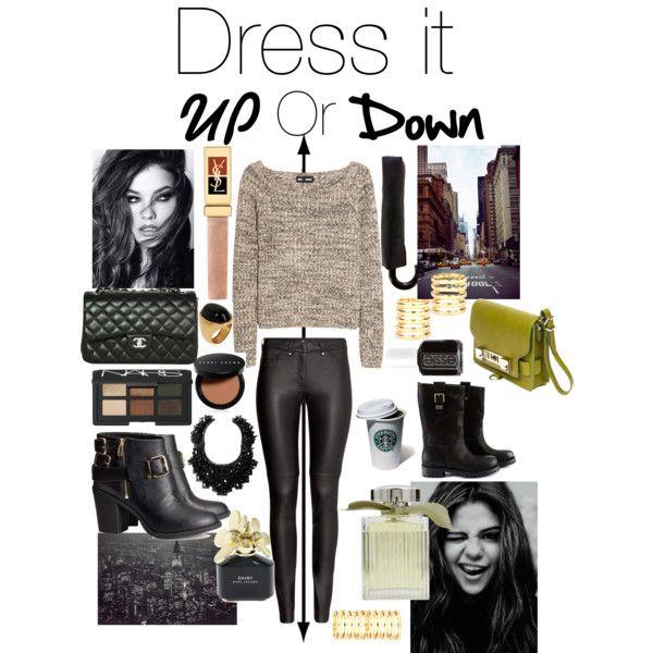 Dress it UP or DOWN: Sweatshirt & leather pants!