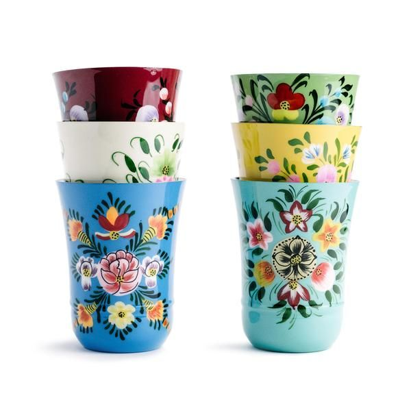 Enameled Floral Tumbler – The Pioneer Woman Mercantile