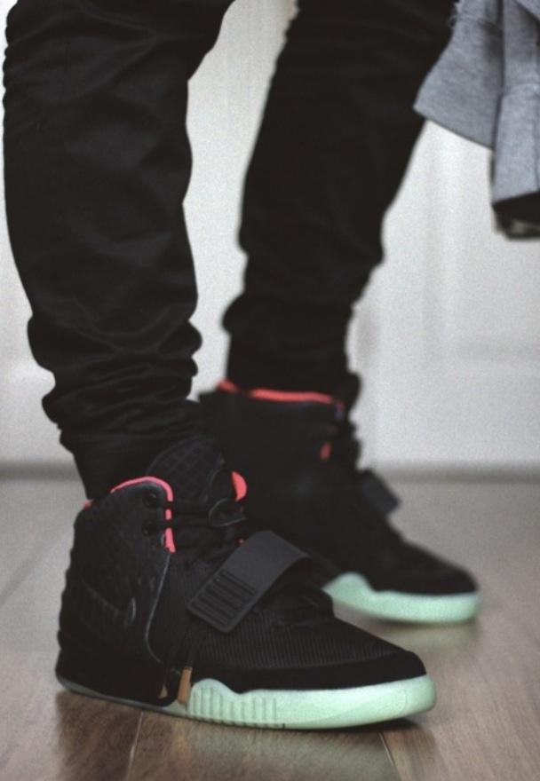 Cheap Hot Sale Nike Yeezy 2 Cheap sale Blue Black Solar Red