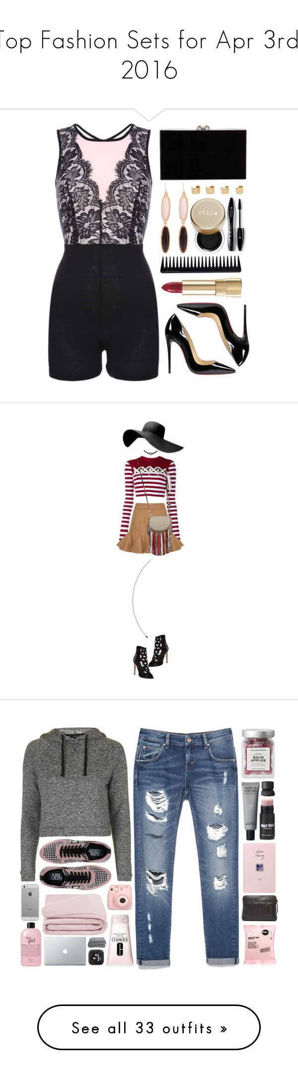 """""""Top Fashion Sets for Apr 3rd, 2016"""" by polyvore ❤ liked on Polyvore featuring Christian Louboutin, Charlotte Olympia, Maison Margiela, Stila, Lancôme, Dolce&Gabbana, GHD, House of Holland, Chloé and Rebecca Minkoff"""
