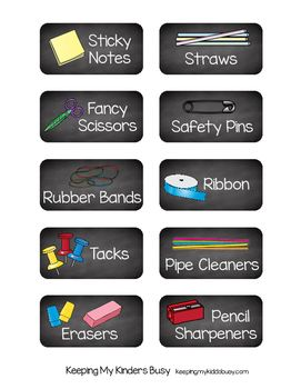 Adorable FREE Classroom supply labels.  I love the chalkboard background!!  Complete set even includes math manipualtives, art supplies, classroom centers and more!