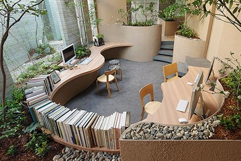 More from UID achitects.  Keisuki Maeda designs buildings with subtle borders between architecture and furniture, as well as interior and exterior. There is a very functional quality in his designs.