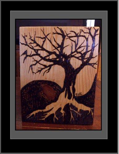 tree of life,tree of life art,wood burned tree of life,pyrography,tree   ArtisticCreationsbyRose - Mixed Media on ArtFir