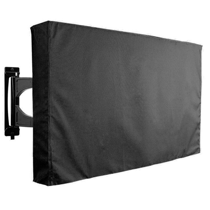 30-32 pulgadas negro tv cubierta patio al aire libre montaje protector plano resistente a la intemperie