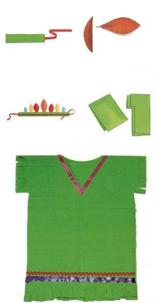 Disfraz indio:  Elementospara un disfraz casero se puede hacer con una bolsa de basura en 2 minutos, rápido y barato las bolsas las puedes comprar en multipapel http://goo.gl/vqdZU0