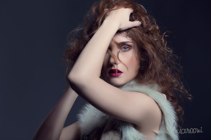 #editorial #beauty #makeup #oanabusuioc #soft #curlyhair #fur #studio #photo #bymarooni #berry #lips