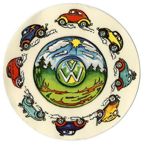 ☮ American Hippie Bohéme Boho Mandala Art ☮ VW