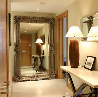 This mirror works so well at the end of a hallway or across from a window ~ doubles your 'space'