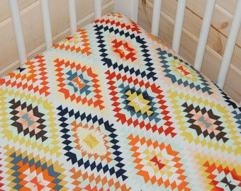 Southwestern Baby Bedding Changing Pad Cover / Fitted by Babiease