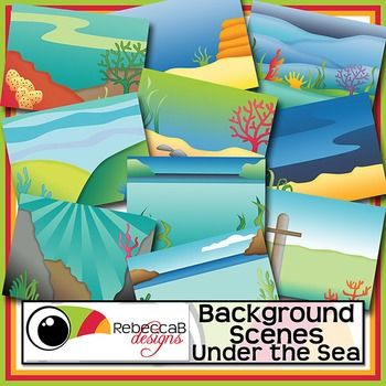Background Scenes Under the Sea contains 10 colored and 10 black and white background scenes for your products. Simply place your text and clip art over the background scene. Create product covers, posters, dioramas, worksheets, activities and other teaching resources.