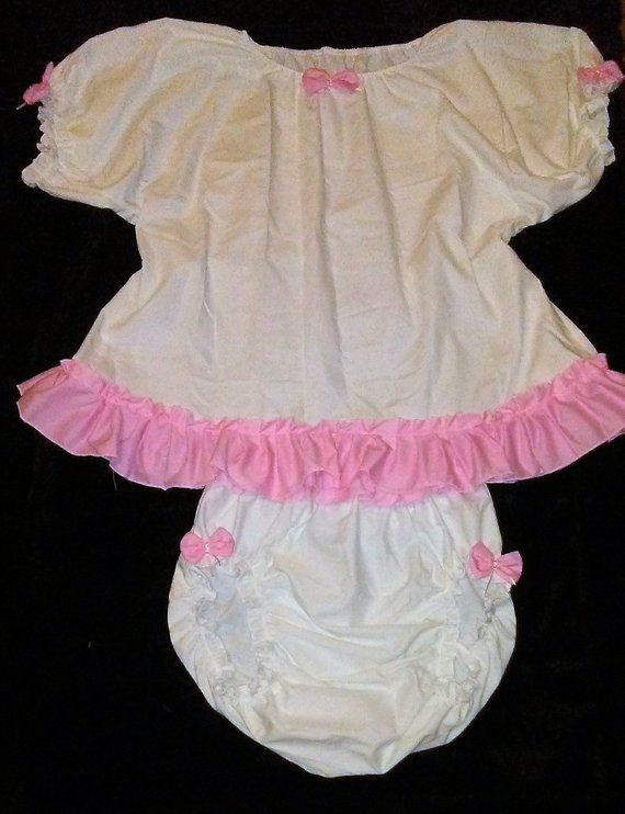 Black with Pink Hearts Satin Diaper Cover