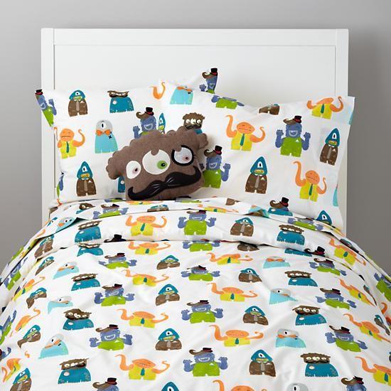 Kids Bedding: Monsters Bedding Set In Boy Bedding