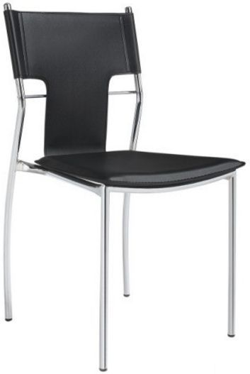 Стул Берлин Х черный белый стулья и кресла из пластика пластиковые стулья для кафе бара ресторана дома 4ugla.com.ua