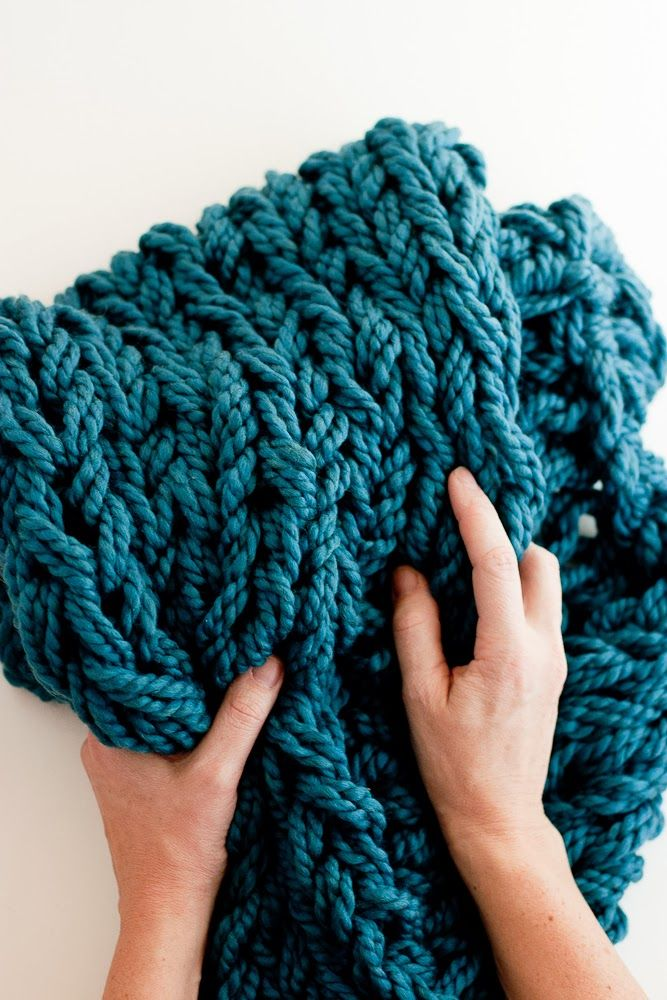 flax & twine: Arm Knitting How-To Photo Tutorial // Part 3: Binding Off
