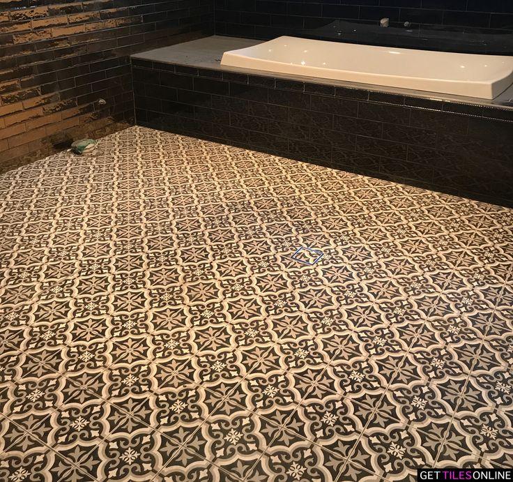 Moroccan Black Matt 200x200 (Code:01328) - Get Tiles Online