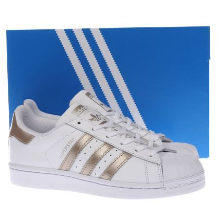 womens adidas rose gold superstar trainers