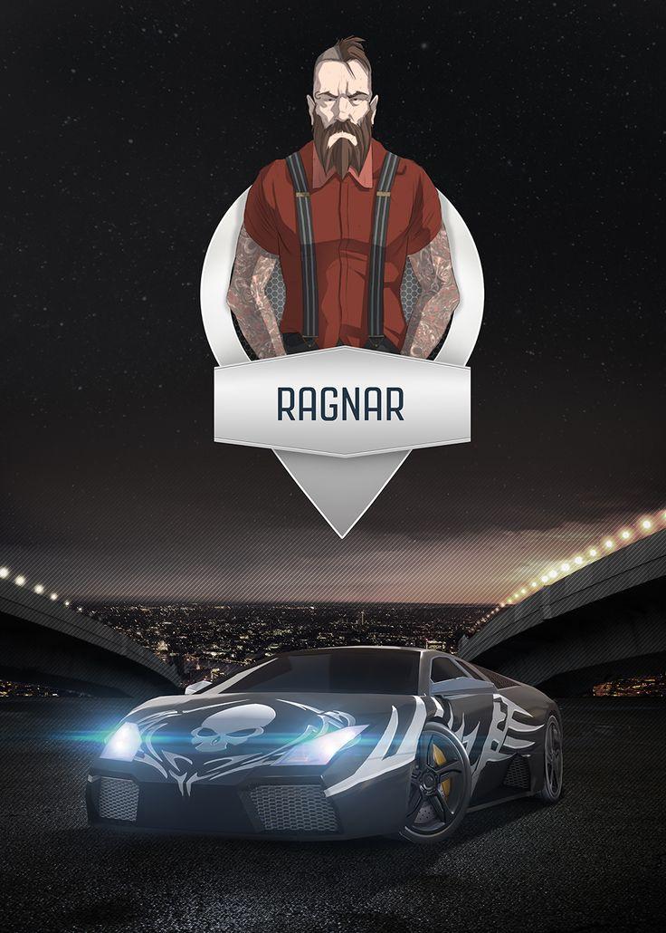 Ragnar -  Mobile Game Poster  by ThunderBullGames
