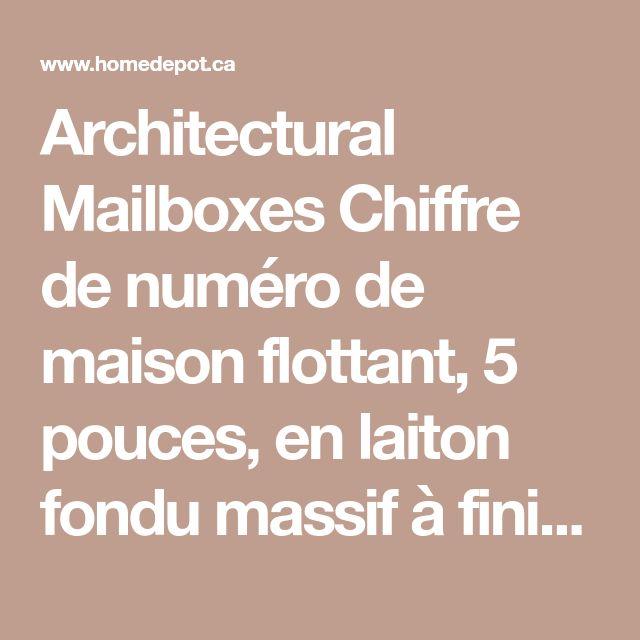 Architectural Mailboxes Chiffre de numéro de maison flottant, 5 pouces, en laiton fondu massif à fini nickel satin, «2» | Home Depot Canada