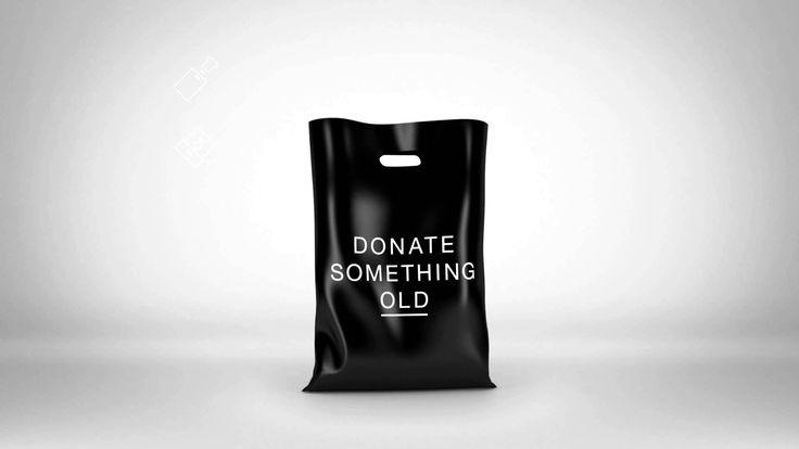 buy something new - donate something old. (The Rag Bag)