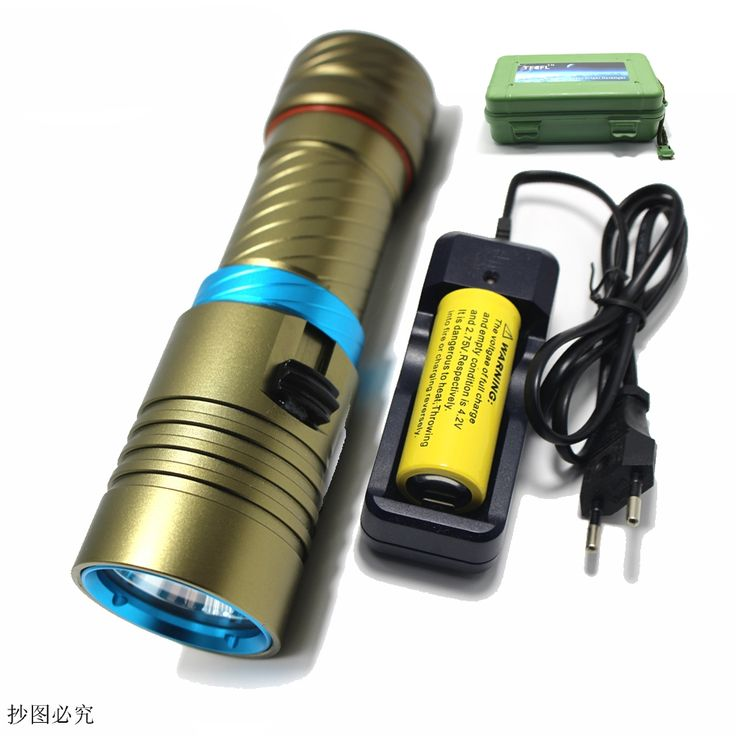 12.33$  Watch now - New 2000 Lumens Cree XM-L2 LED Diving Flashlight Torch 100M Underwater Waterproof Scuba Lantern + 26650 Battery + Charger+box  #buyininternet