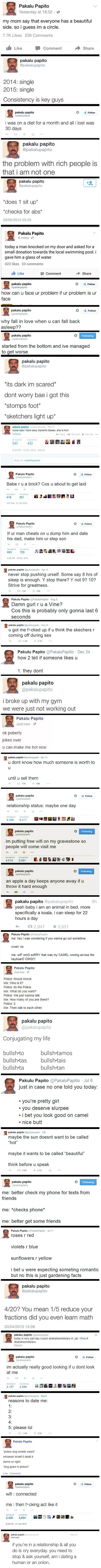 Pakalu Papito is the funniest guy on Twitter.