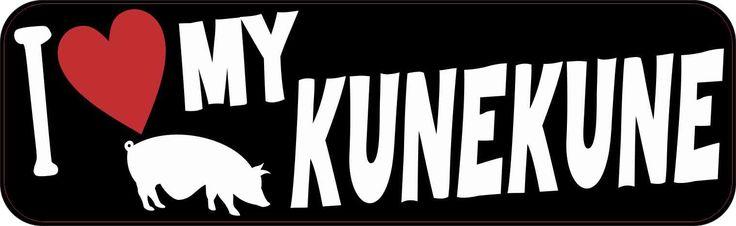 StickerTalk® Brand 10x3 I Love My Kunekune Magnet Vinyl Pig Car Magnets