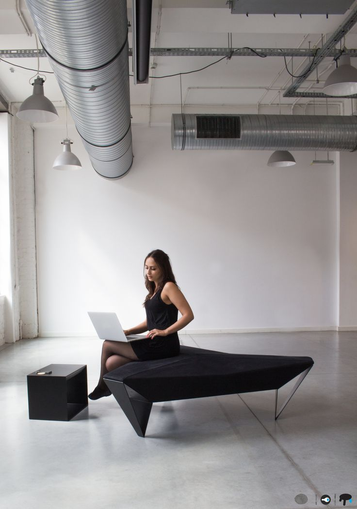 A project by Marta Kincel, who was looking for new furniture solutions in public spaces.  Its shape, inspired by modern architecture, encourages integration and dialogue. Designed using a durable, polyester fabric by Dekoma - Valter.  Photographs courtesy by Concordia Design.