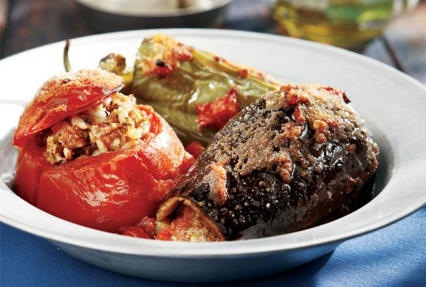 Stuffed Tomatoes, Peppers & Eggplant