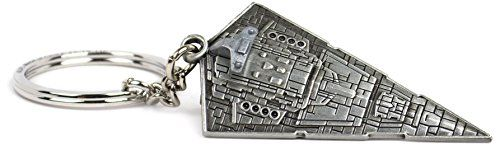 Star Wars Star Destroyer Key Chain - Cast in a solid steel alloy, this highly detailed model is just 2 Inch long and comes equipped with a key ring.