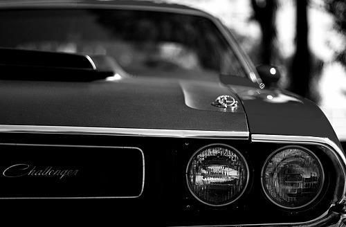 1970 Dodge Challenger In Black And White Looks Real Good