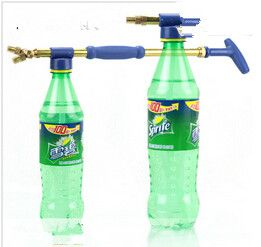 Ugello di rame puro alternativo singola doppio cursore spruzzatore di pressione di irrigazione ugello di spruzzo d'acqua portatile