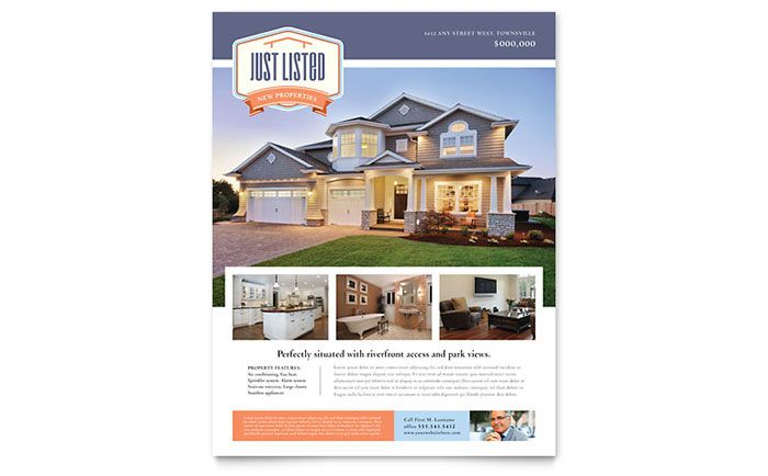 New Property Flyer. Download template: http://www.stocklayouts.com/Templates/Flyer/New-Property-Flyer-Template-Design-RE0161501.aspx