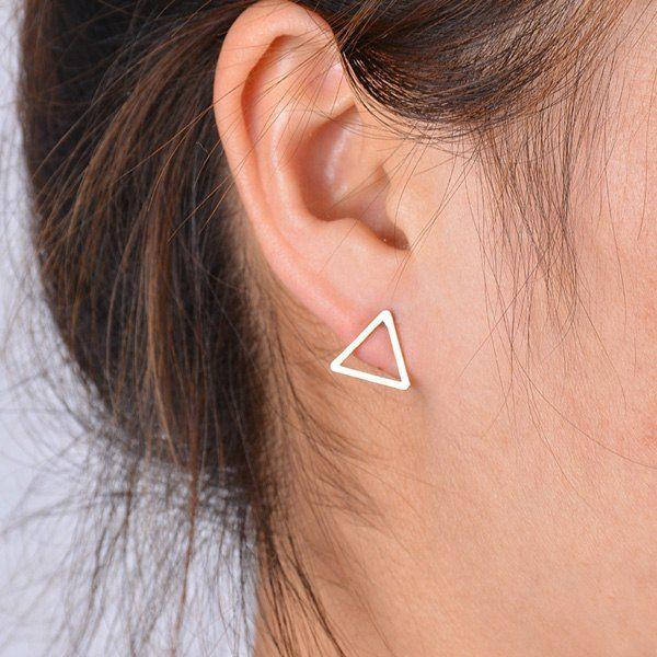 petite triangle earrings