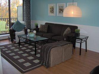 Online interior decorating - modern condo living room