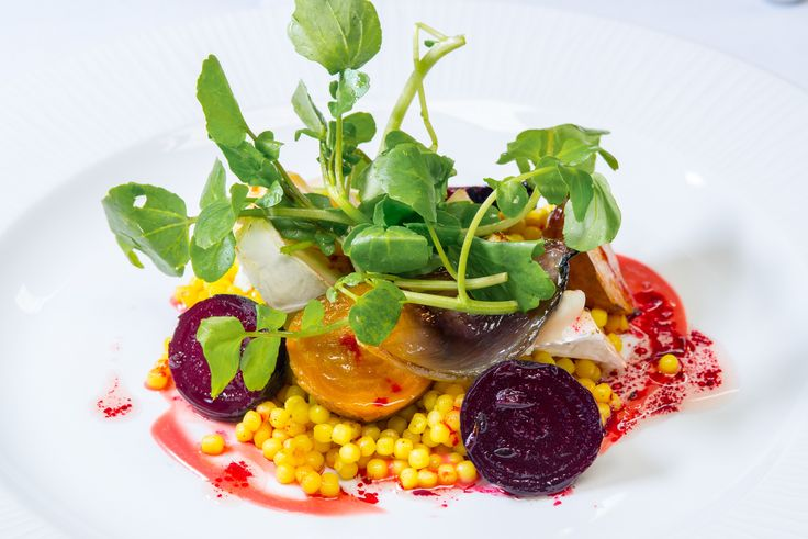 Goats cheese and baby beetroots