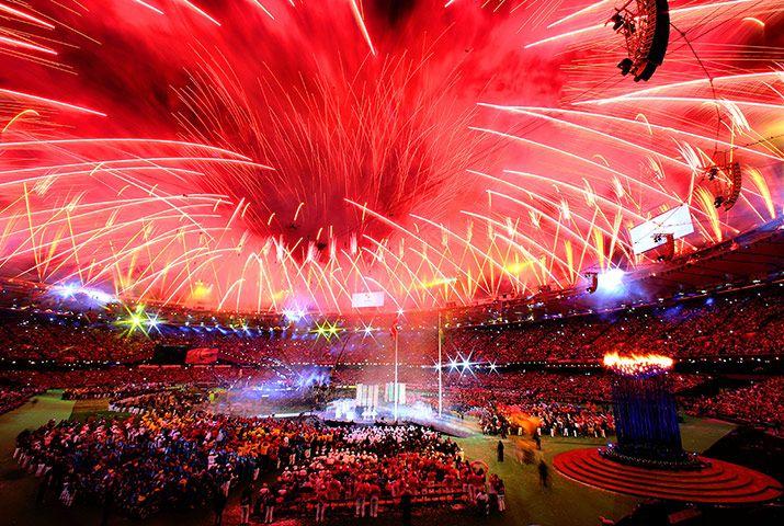 Paralympics fireworks: closing ceremony