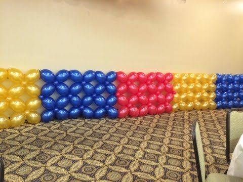 How to make a balloon wall, Anleitung für eine Ballon Wand, decoration, Dekorationwand, Luftballon - YouTube