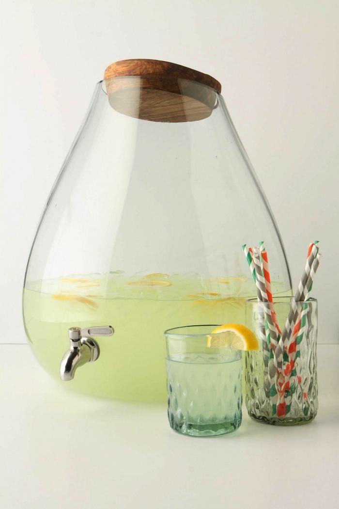 Bubbled Glass Dispenser from Anthroplogie. {Via Remodelista}